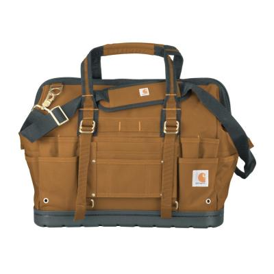 Legacy 18 in. Brown Tool Bag with Molded Base