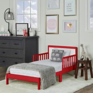 Strange Brookside Red And White Toddler Adjustable Bed Bralicious Painted Fabric Chair Ideas Braliciousco
