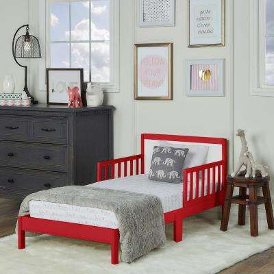 Brookside Red and White Toddler Adjustable Bed