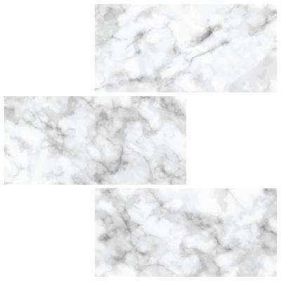 10 in. x 10 in. Subway Carrara Peel and Stick Backsplash Tiles