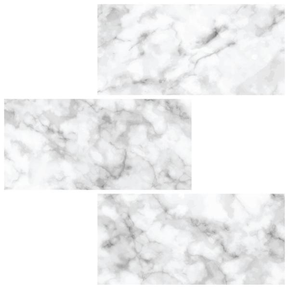 10 in. x 10 in. Subway Carrara Peel and Stick Backsplash Tiles