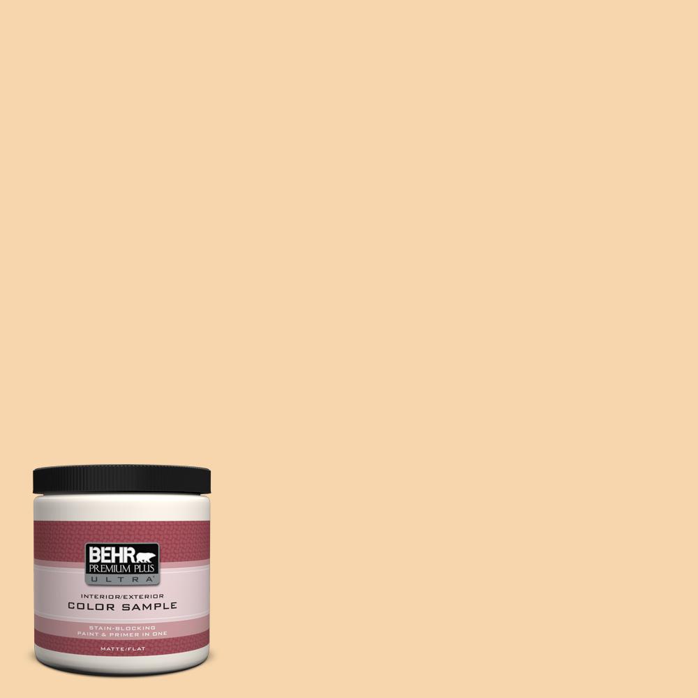 BEHR Premium Plus Ultra 8 oz. #PPU6-8 Pale Honey Interior/Exterior Paint Sample
