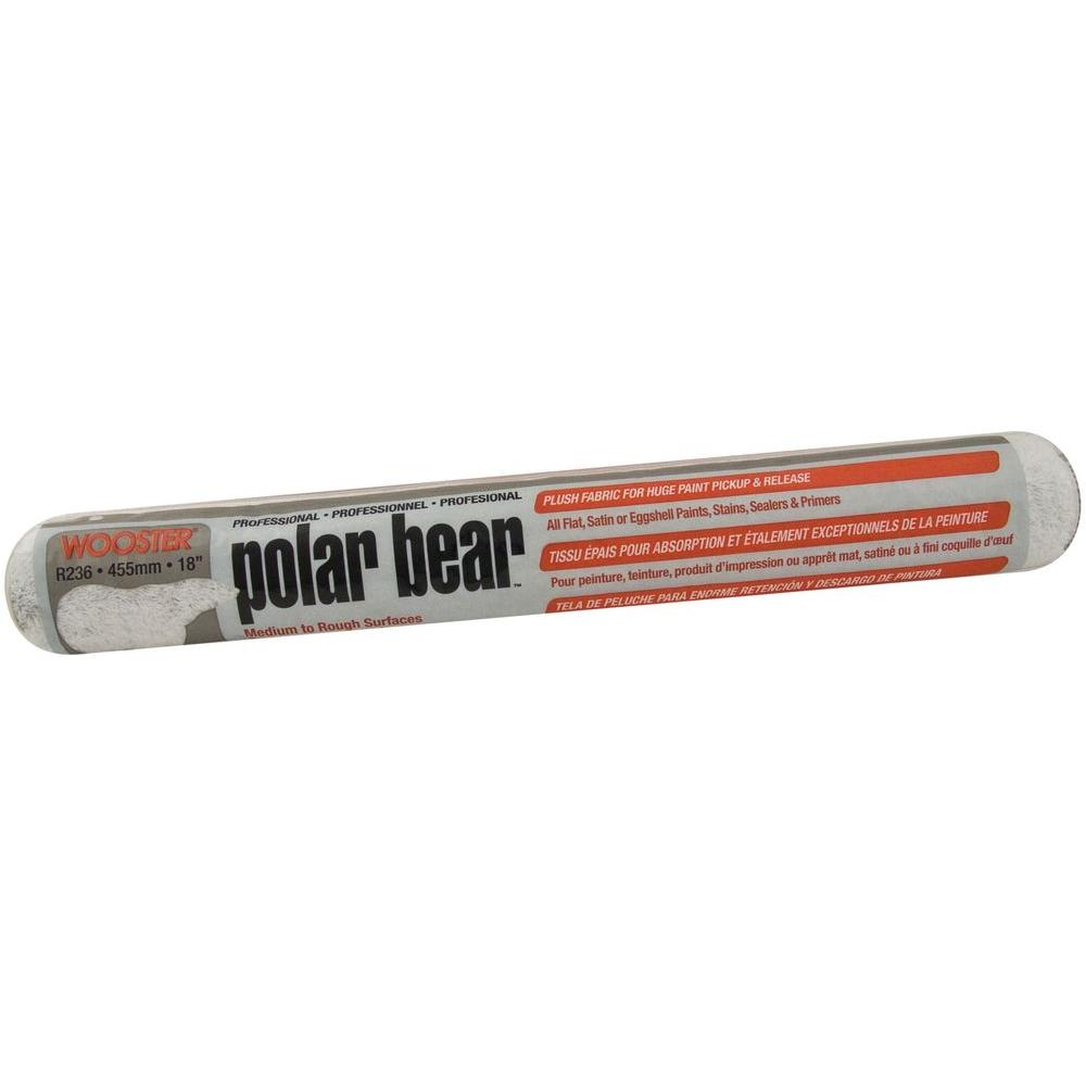 18 in. Polar Bear High Capacity Plush Roller