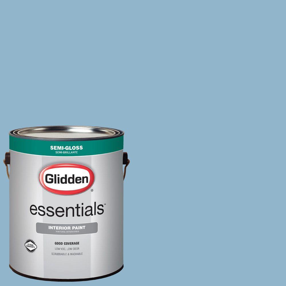 1 gal. #HDGB59U Baby Blue Eyes Semi-Gloss Interior Paint