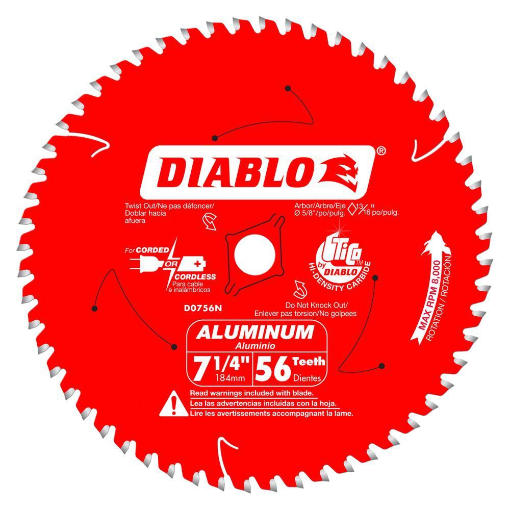 7-1/4 in. x 56-Tooth Aluminum/ Laminate Metal Cutting Blade