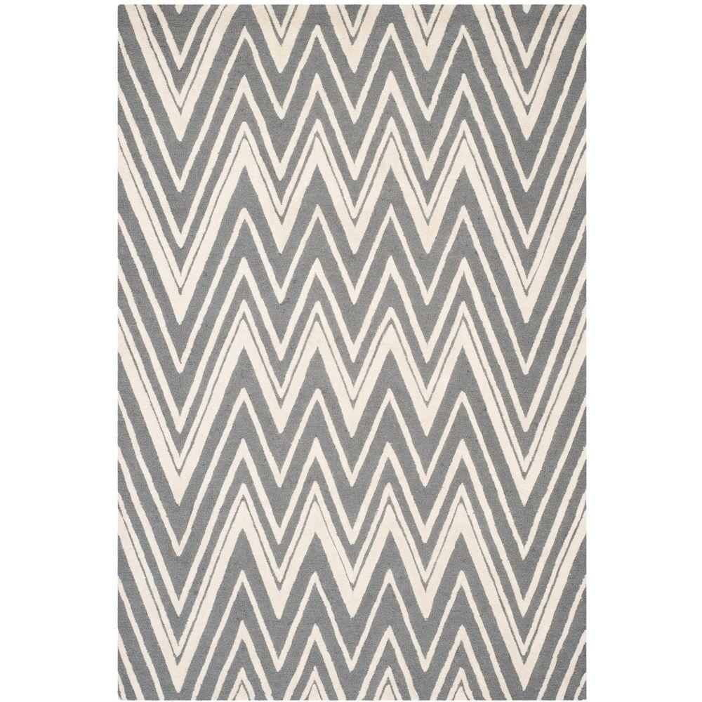 Safavieh Cambridge Dark Gray/Ivory 10 ft. x 14 ft. Area Rug