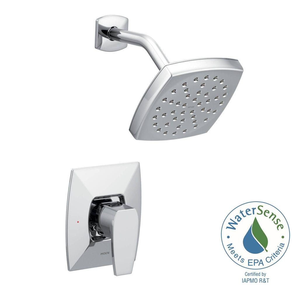 MOEN Adler Single-Handle 4-Spray Tub and Shower Faucet with Valve in ...