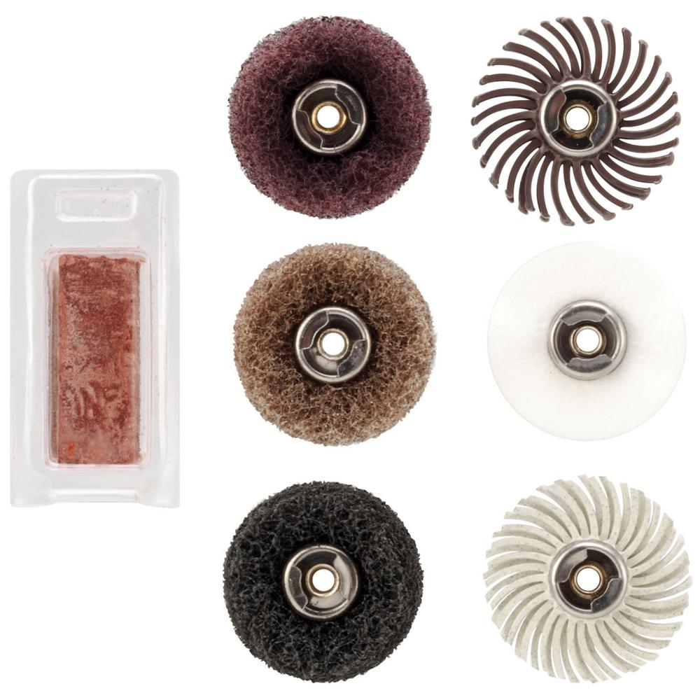 Dremel EZ Lock Rotary Tool Sanding and Polishing Mini Kit for Metal, Steel, Wood, Brass, Aluminum, Plastics and Vinyl (7-Piece)
