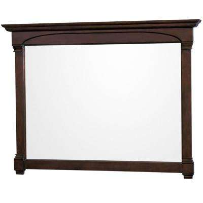 Andover 56 in. W x 41 in. H Framed Wall Mirror in Dark Cherry