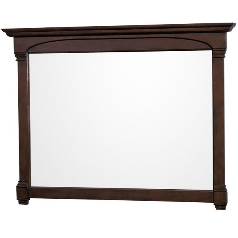 Andover 56 in. W x 41 in. H Framed Rectangular Bathroom Vanity Mirror in Dark Cherry