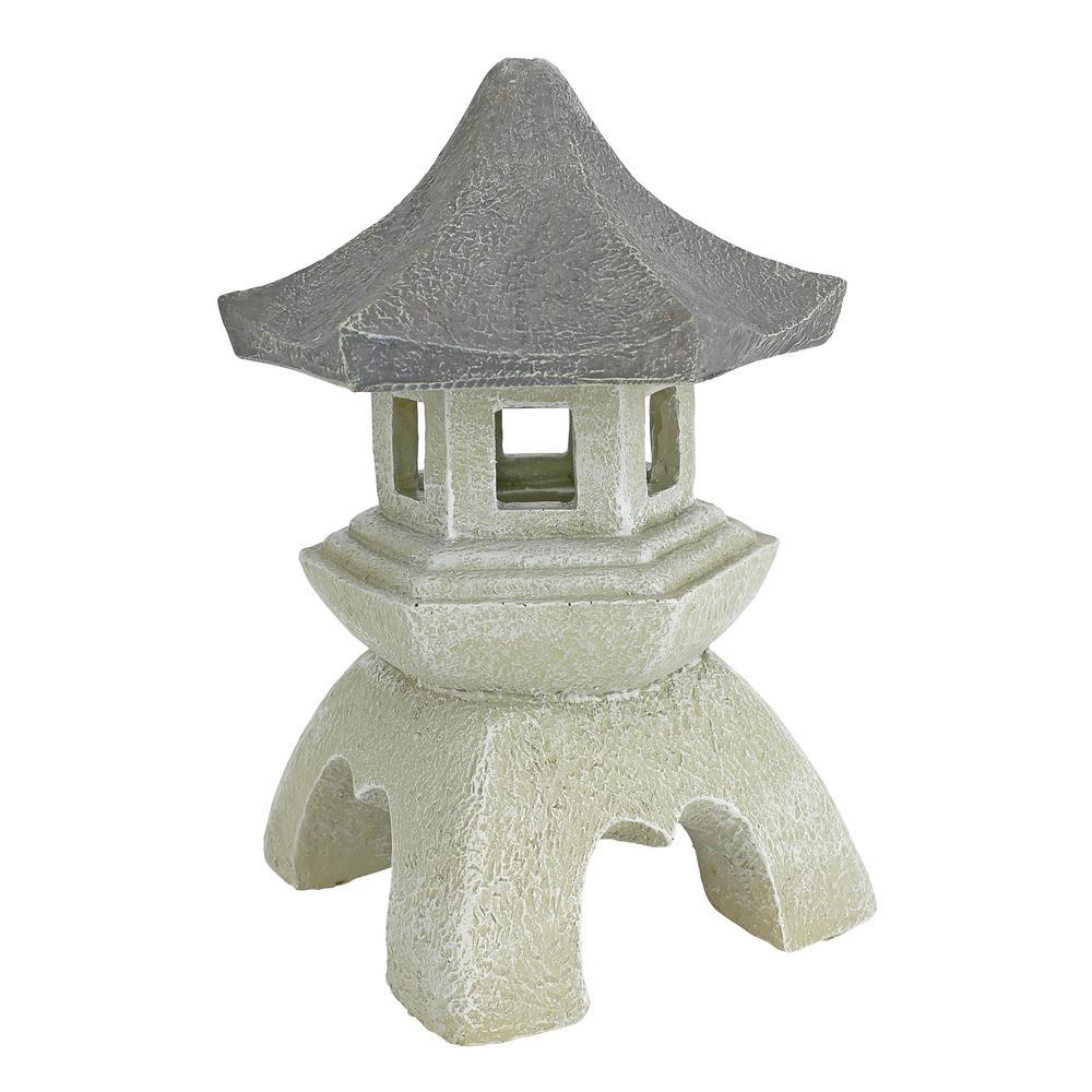 10.5 in. H Pagoda Lantern Medium Sculpture