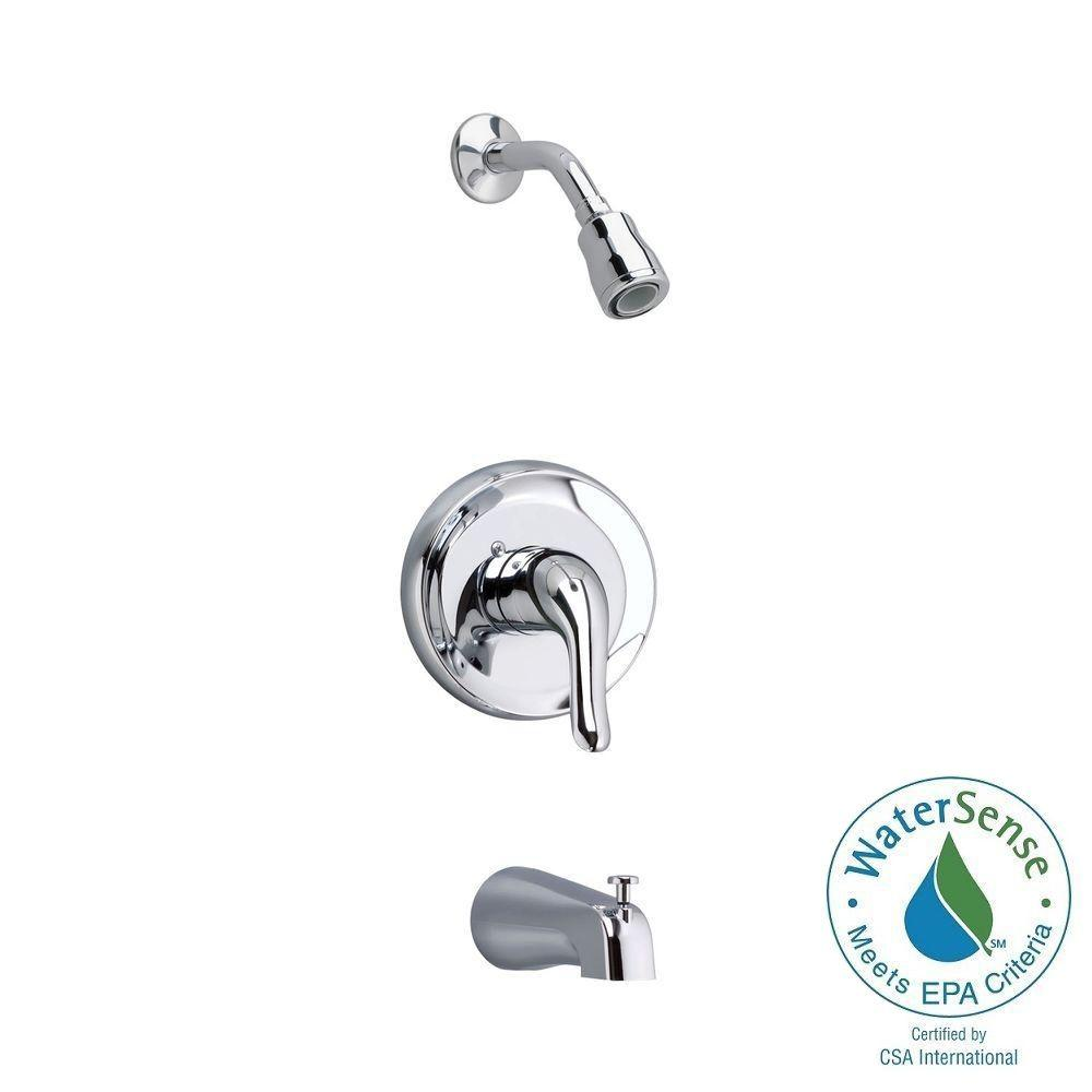 American Standard Colony Soft 1-Handle Tub and Shower Faucet Trim ...