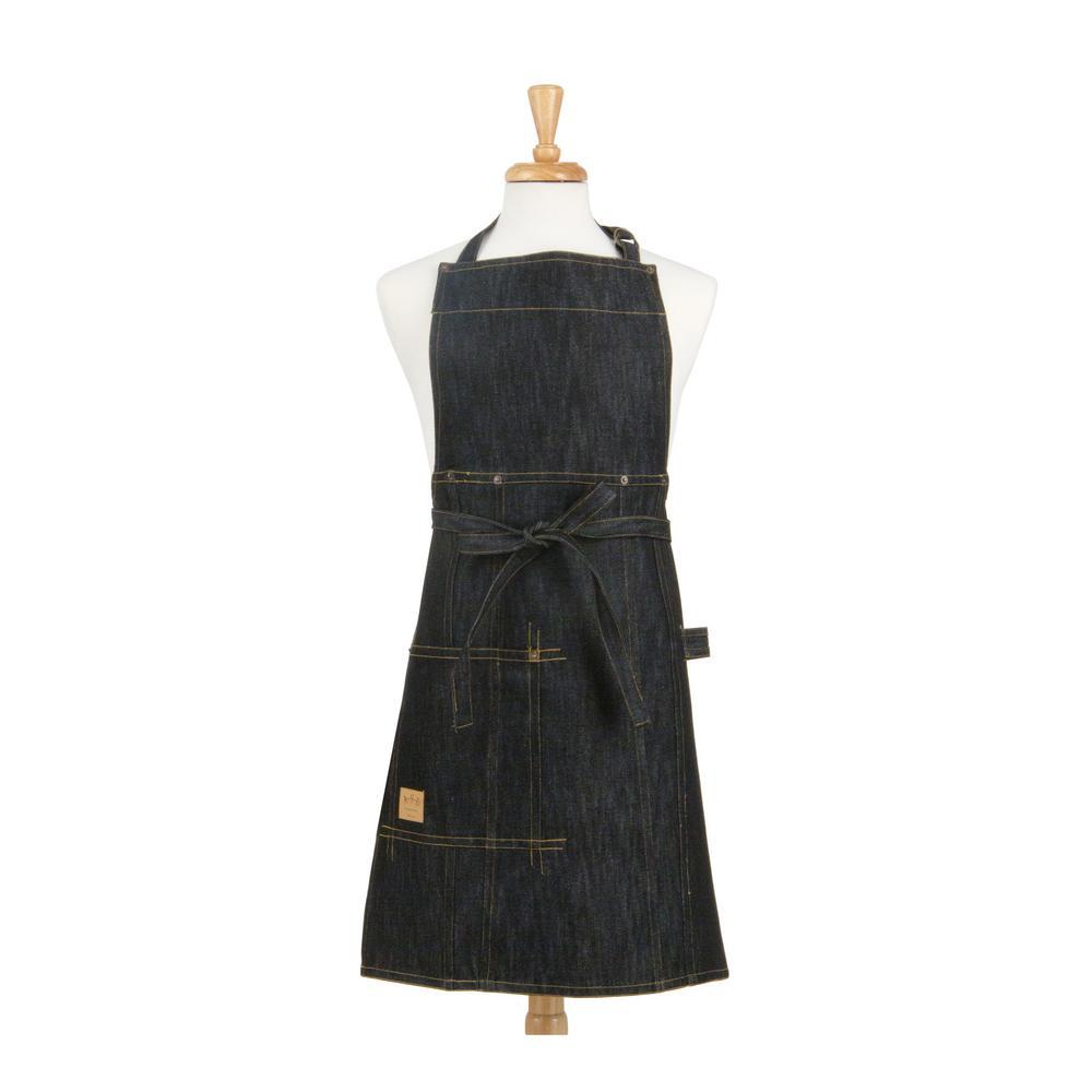 Vintage Draper Denim Adult Butcher/Bib Indigo Apron one size 100% Woven