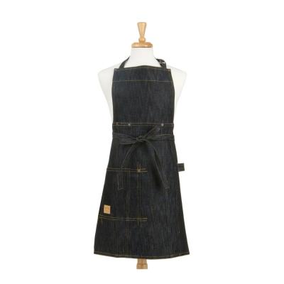 Vintage Draper Denim Adult Butcher/Bib Indigo Apron one size 100% Woven Cotton 36 in. L x 27 in. W