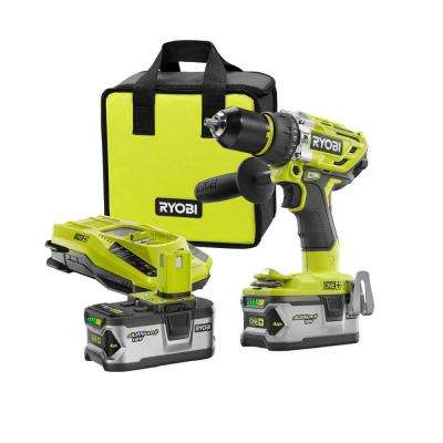 18-Volt ONE+ Lithium-Ion Cordless Brushless Hammer Drill/Driver Kit with (2) 4.0 Ah LITHIUM+ Batteries, Charger, and Bag