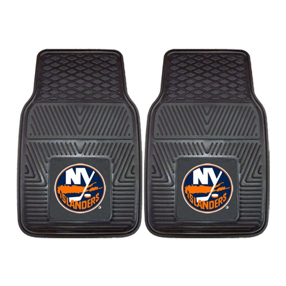New York Islanders 18 in. x 27 in. 2-Piece Heavy Duty Vinyl Car Mat