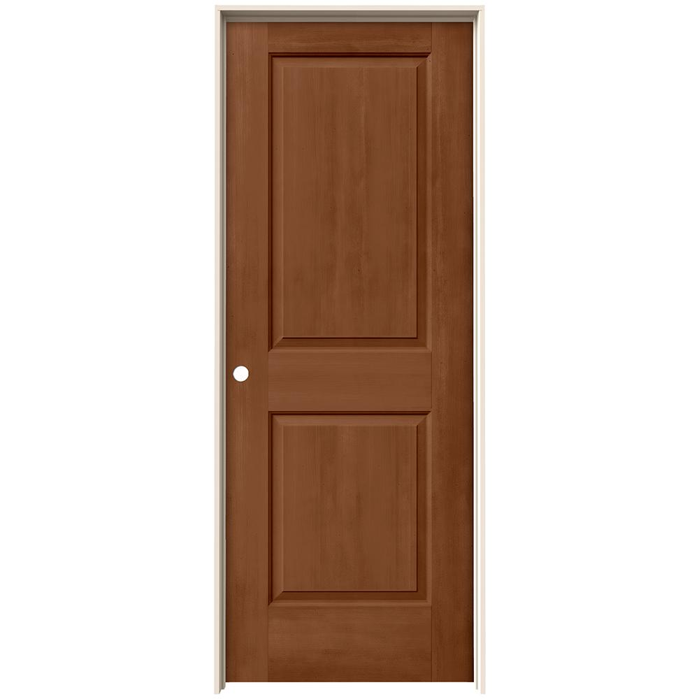Jeld Wen 24 In X 80 In Cambridge Hazelnut Stain Right Hand Solid Core Molded Composite Mdf