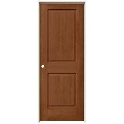 24 in. x 80 in. Cambridge Hazelnut Stain Right-Hand Solid Core Molded Composite MDF Single Prehung Interior Door