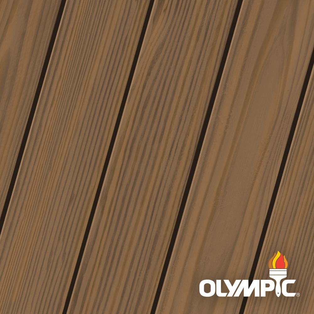 Olympic Maximum 5 gal. Teak (Brown) Semi-Transparent Exterior Stain and Sealant in One -  OLY730-05