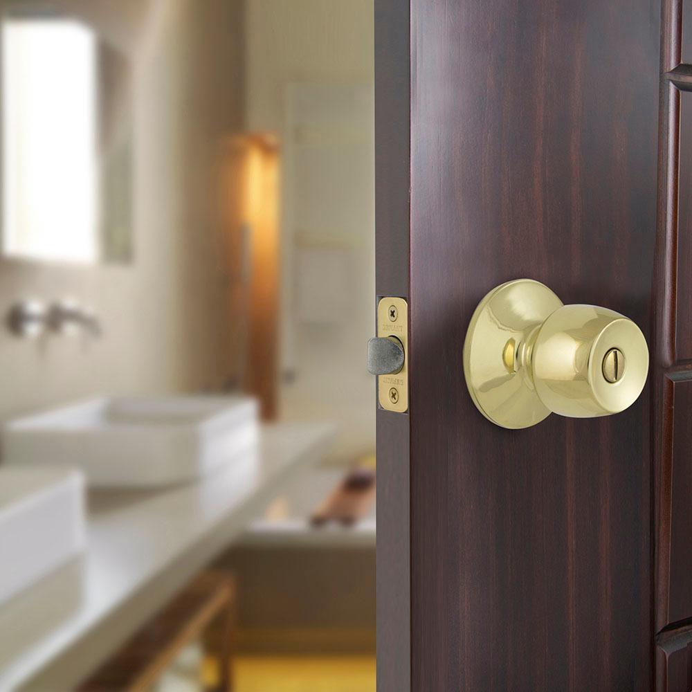 Brandywine Polished Brass Bed/Bath Privacy Door Knob