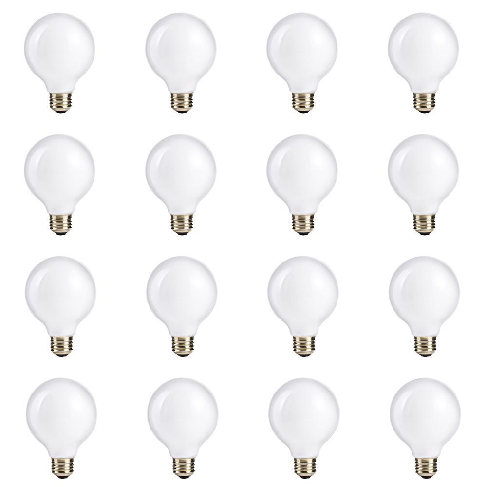60-Watt Equivalent G25 Halogen White Globe Light Bulb (12-Pack)