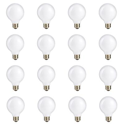 60-Watt Equivalent G25 Halogen White Globe Light Bulb (12-Pack)