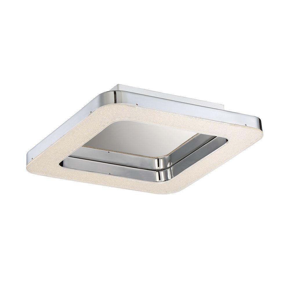Zatina Collection 1-Light Chrome LED Flush Mount