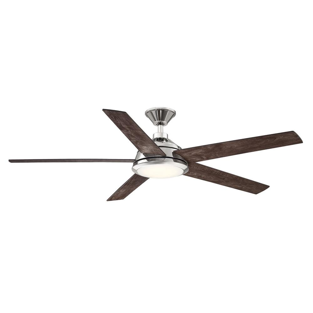 Home Decorators Collection Haverbrook 60 in. LED Polished Nickel Ceiling Fan with Light