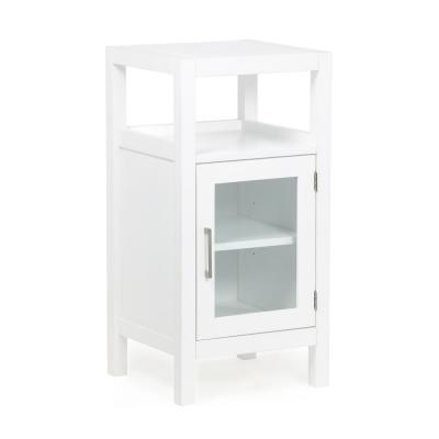 Brockton Ready to Assemble 15 in. x 30 in. x 14 in. Pure White Floor Storage Cabinet