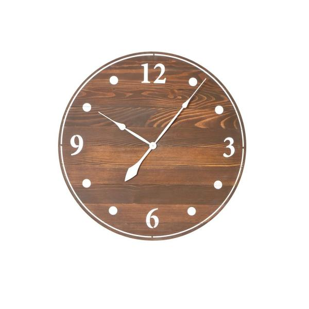 30 in. Oversized Dark Brown Farmhouse Wall Clock