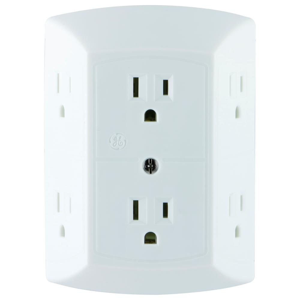 6-Outlet Grounded Adapter-Spaced Tap