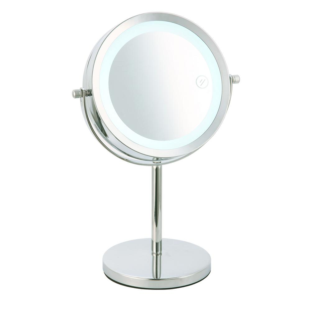 Home Basics 7 in. x 13 in. Cosmetic Mirror with LED Light