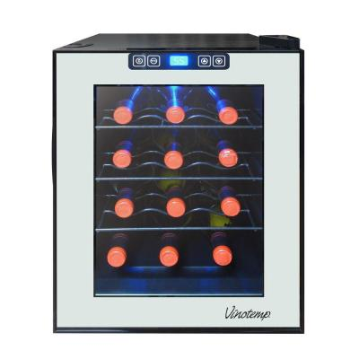 12-Bottle Mirrored Thermoelectric Freestanding Wine Cooler