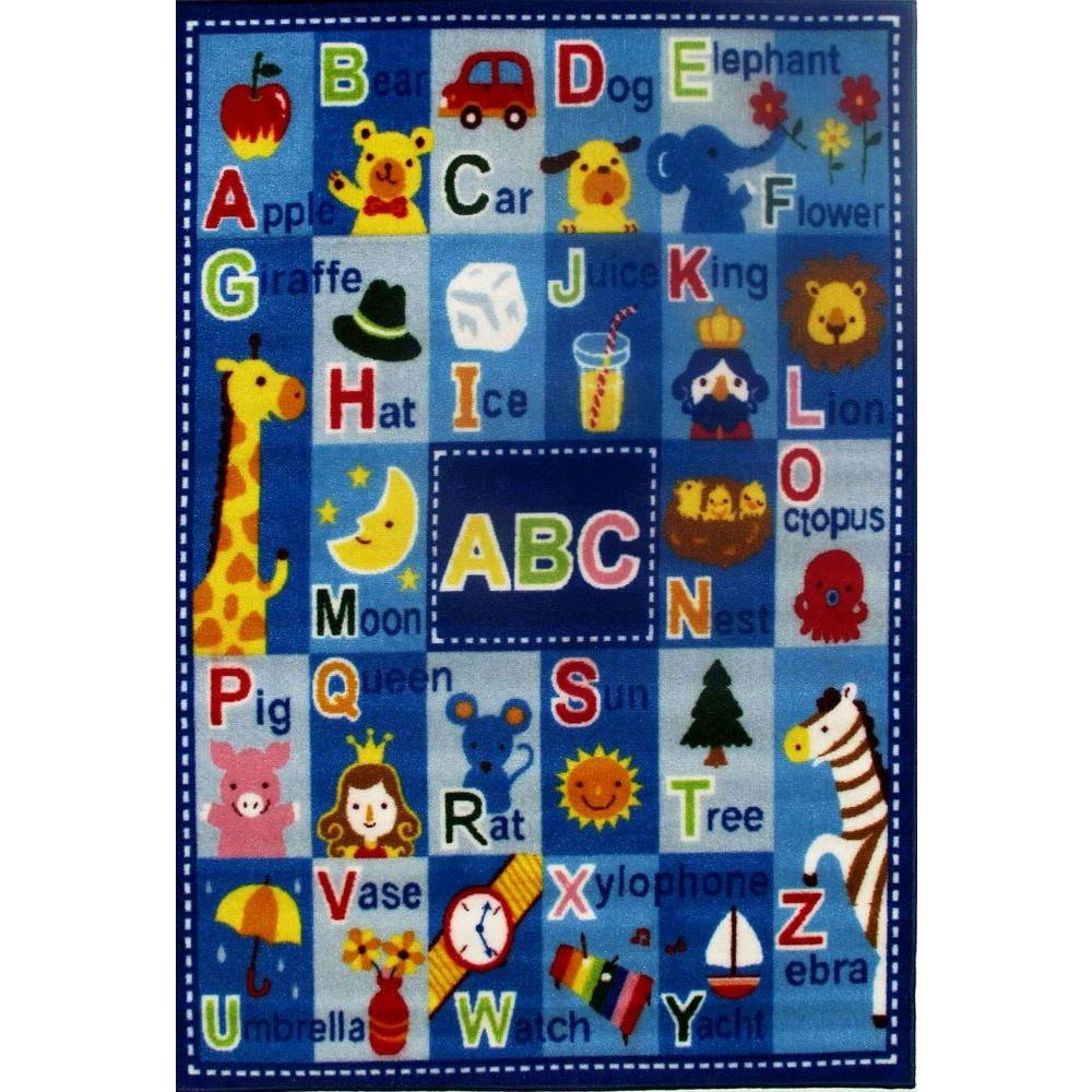 Lakeshore Learning Rug: Area Rug 3x5 Fun Time Letters Names Multi Color School
