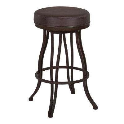 Laurel 26 in. Brown Bar Stool