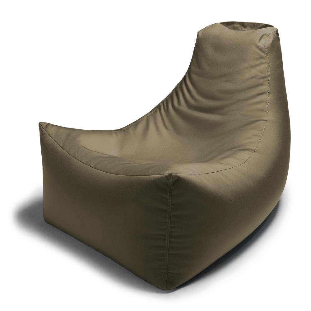 Ja Juniper Taupe Outdoor Bean Bag Patio Lawn Chair