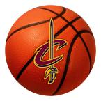 NBA Cleveland Cavaliers Orange 2.25 ft. Round Basketball Mat Area Rug