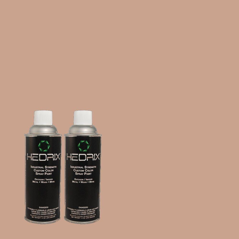 Hedrix 11 oz. Match of 3A22-4 Cocoa Pearl Low Lustre Custom Spray Paint (2-Pack)