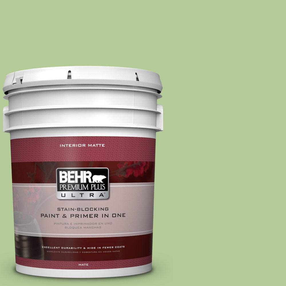 BEHR Premium Plus Ultra 5 gal. #430D-4 Garden Spot Flat/Matte Interior Paint
