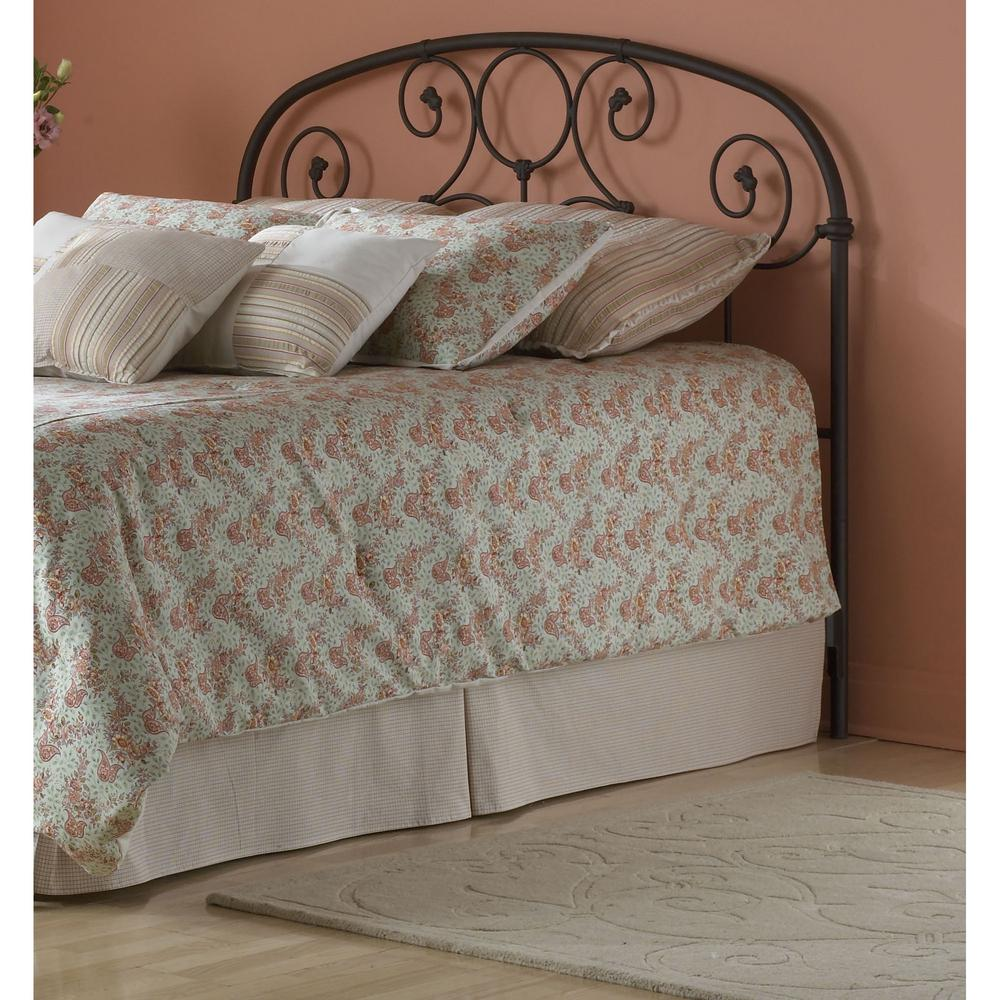 fashion bed group grafton queen size metal headboard with scrollwork design and decorative. Black Bedroom Furniture Sets. Home Design Ideas