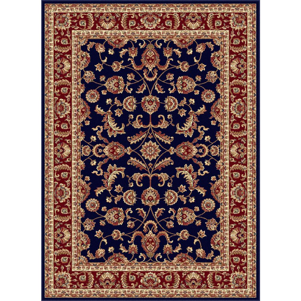 tayse rugs sensation navy 11 ft x 15 ft traditional area rug sns4797 11x15 the home depot. Black Bedroom Furniture Sets. Home Design Ideas