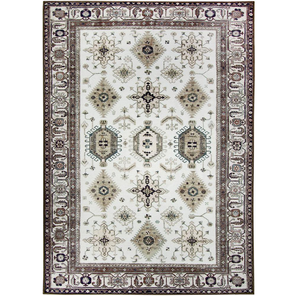 Ruggable Washable Noor Taupe 5 ft. x 7 ft. Stain Resistant Area Rug