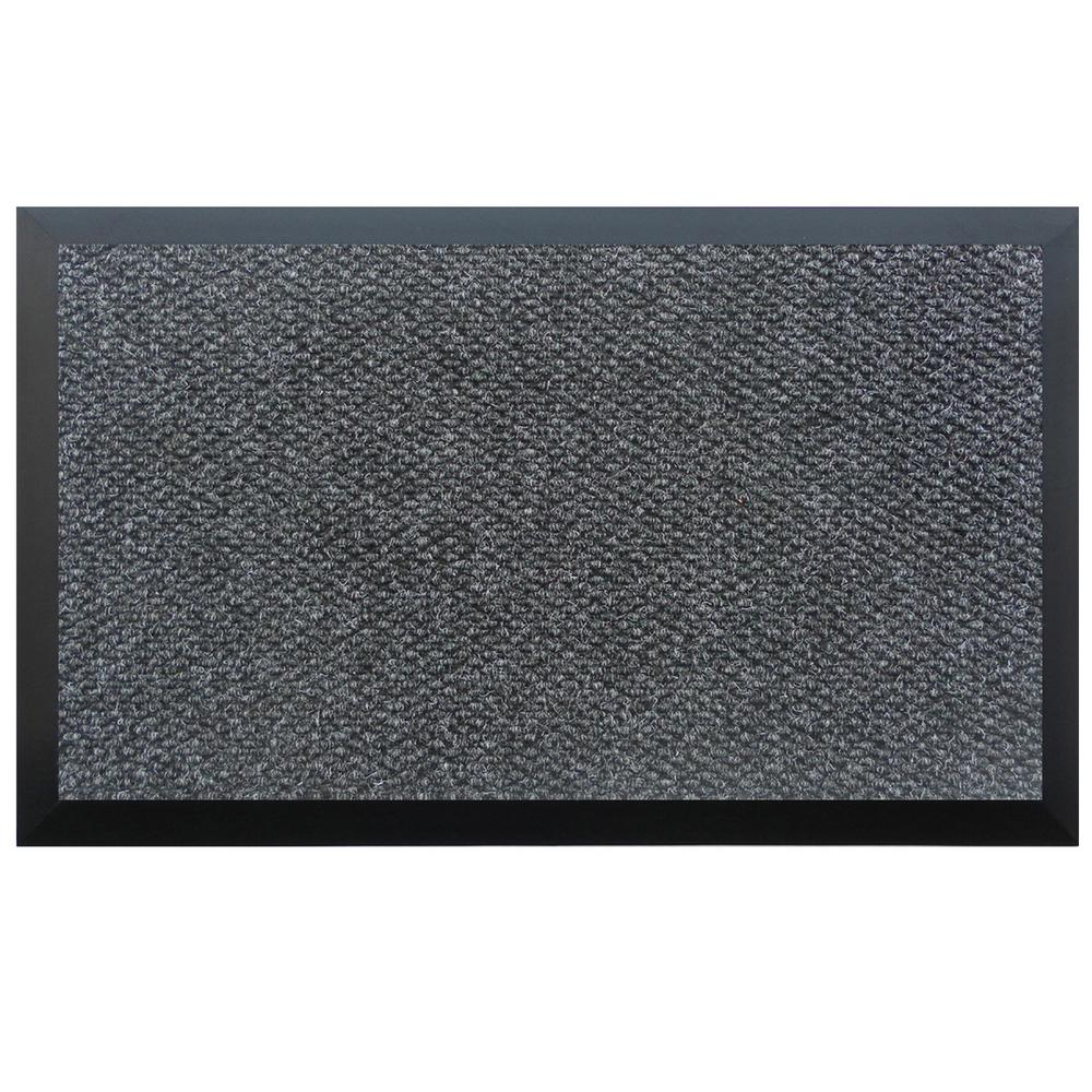 Home & More Charcoal 72 in. x 192 in. Teton Residential Commercial Mat