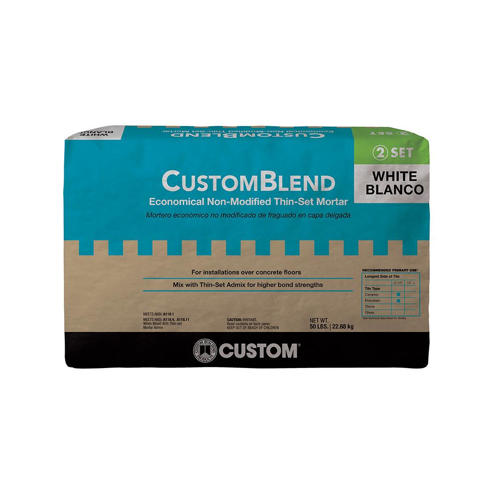 CustomBlend 50 lb. White Standard Thinset Mortar