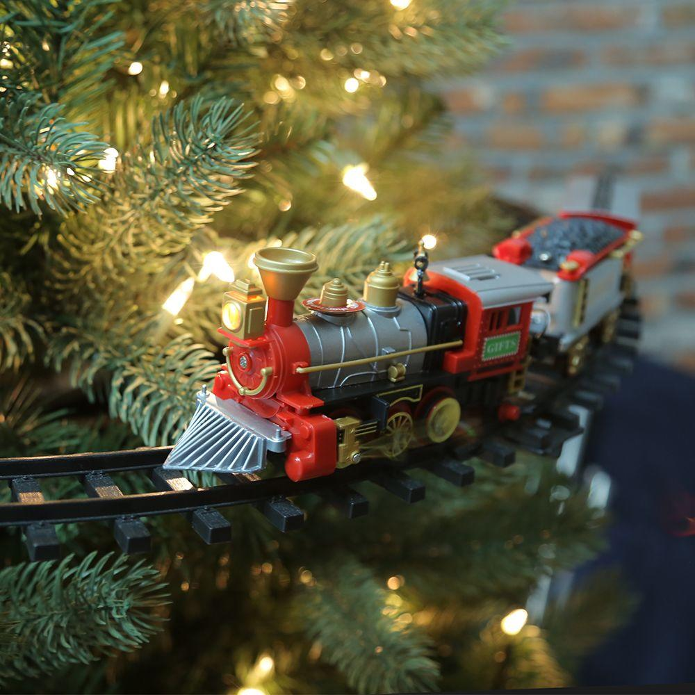 Christmas Tree Train.Home Accents Holiday 14 25 In Christmas Tree Train