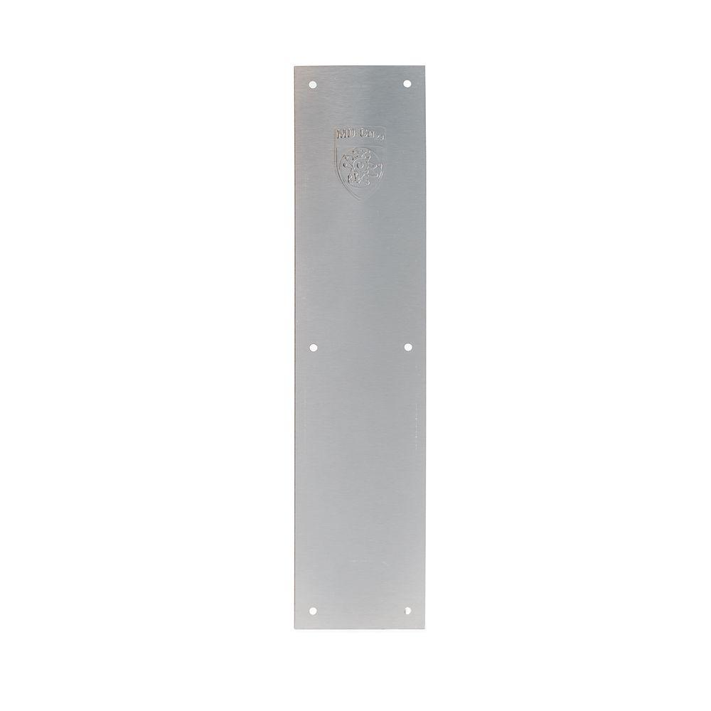 3.5 in. x 15 in. Brushed Copper Nickel Antimicrobial Push Plate