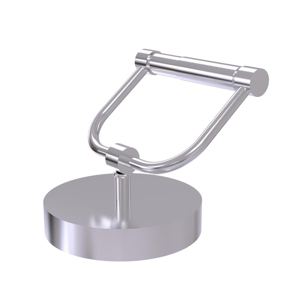 Allied Brass Vanity Top Toilet Tissue Holder In Satin Chrome 1066