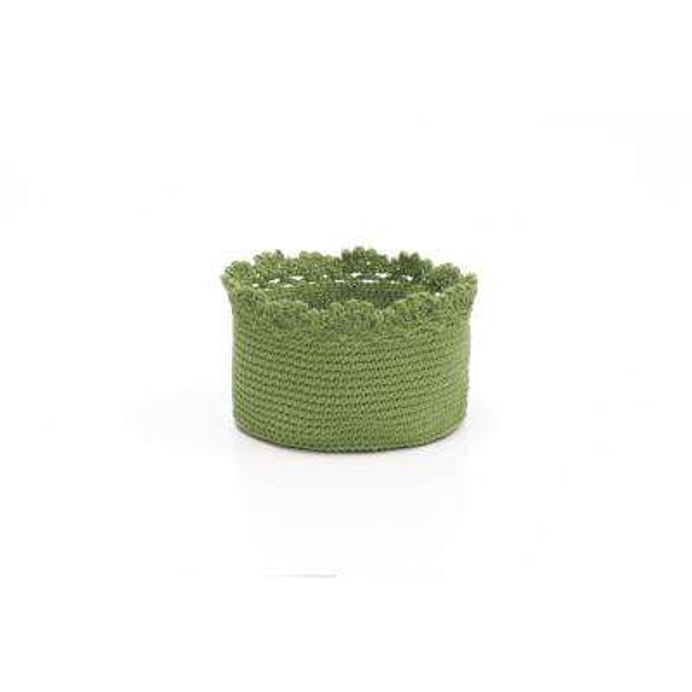 Mod Crochet Round Polypropylene Basket (Set of 2)