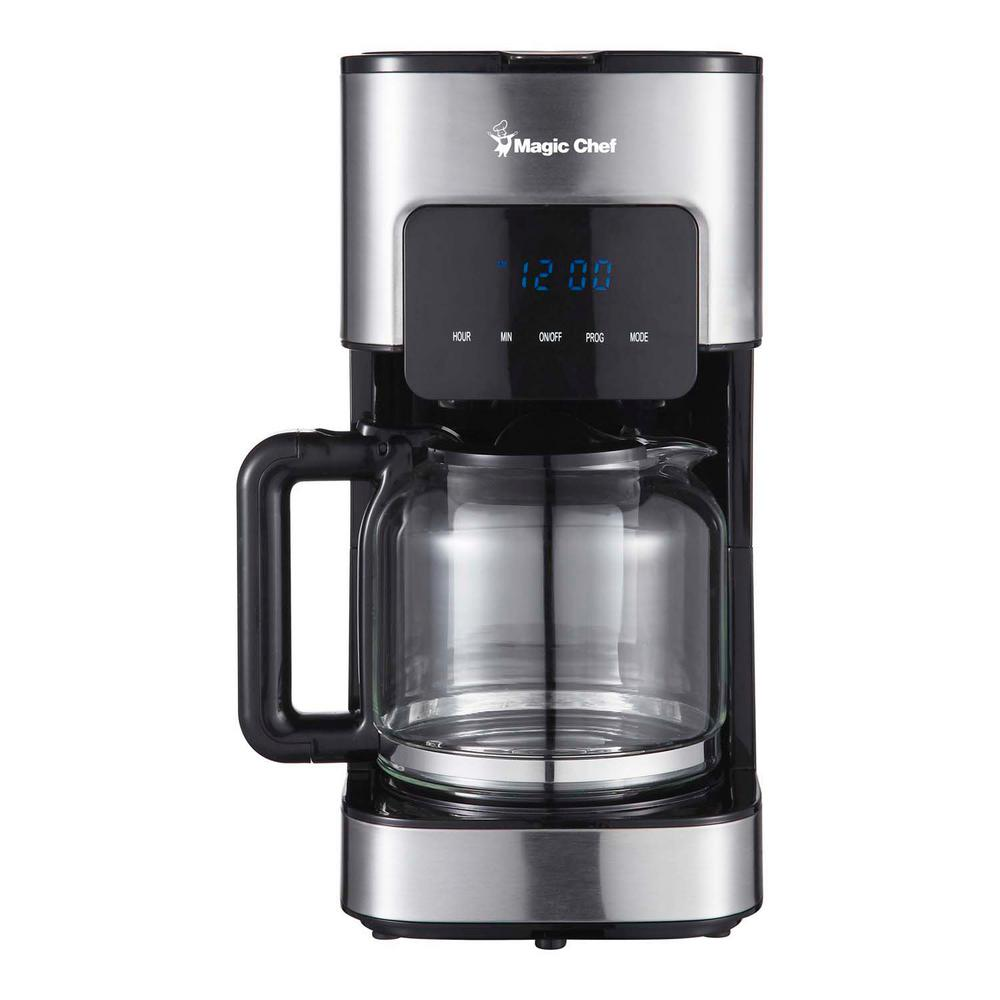 Magic Chef 12 Cup Stainless Steel Programmable Coffee Maker