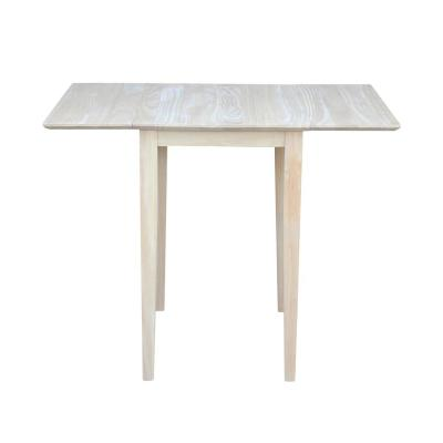 Small Drop Leaf Wood Unfinished Dining Table
